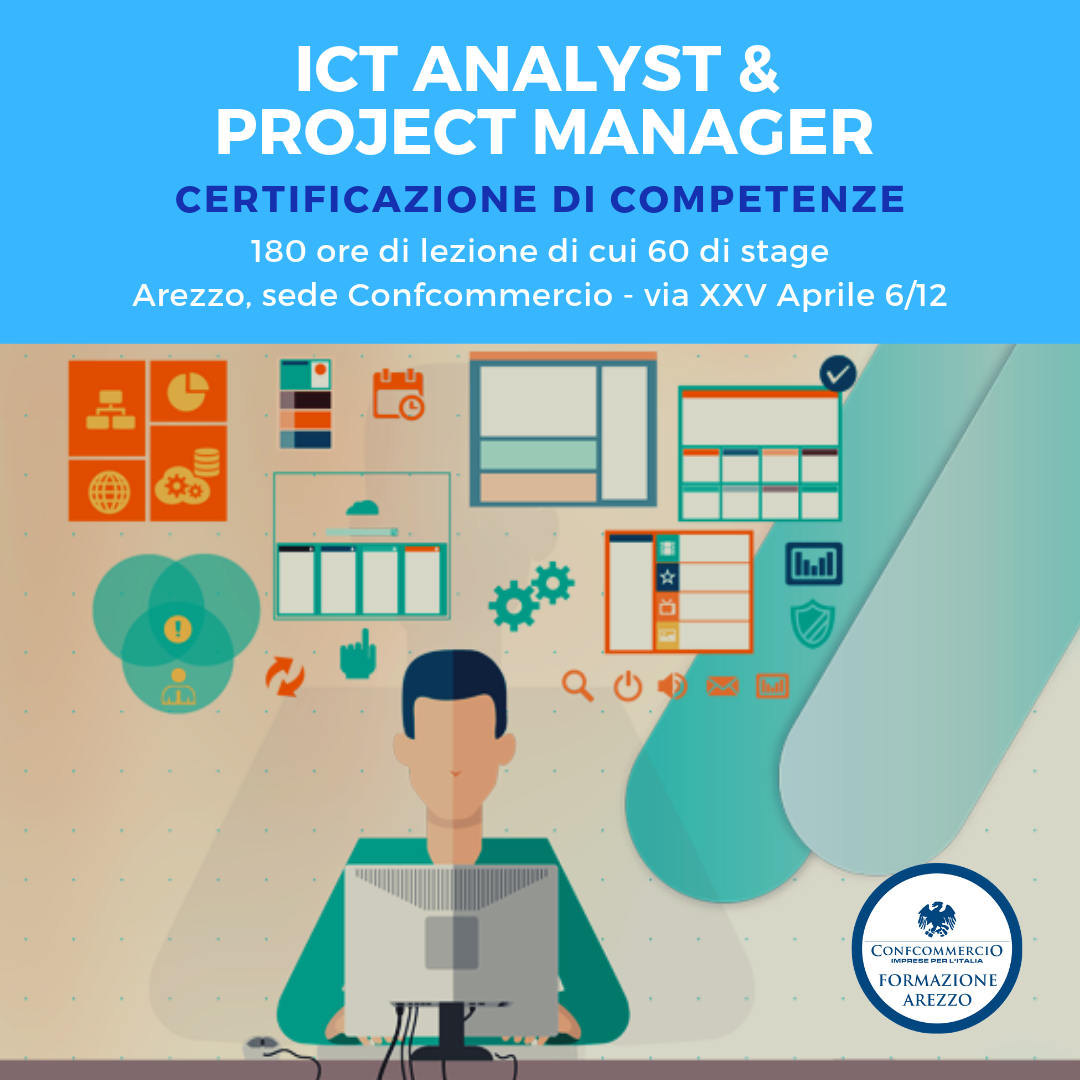 ICT Analyst & Project Manager - certificazione competenze GRATUITA
